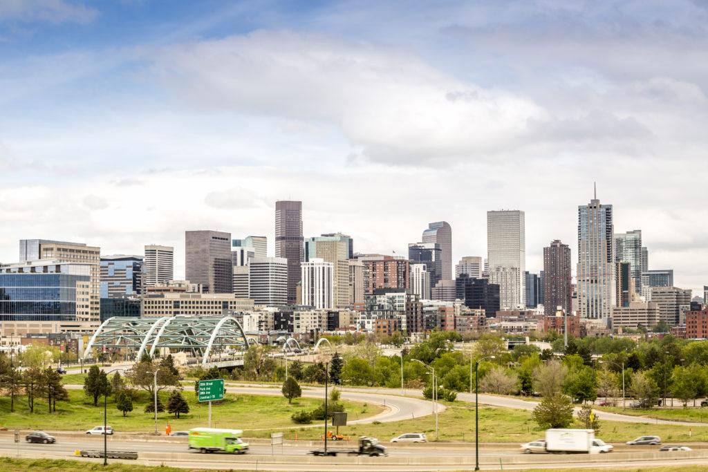 Denver cityscape, Colorado Capitol City, USA